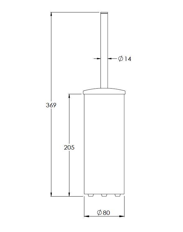 Domo Freestanding Toilet Brush Technical