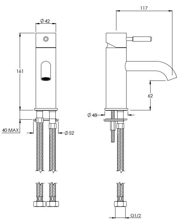 Domo Mono Basin Mixer Technical