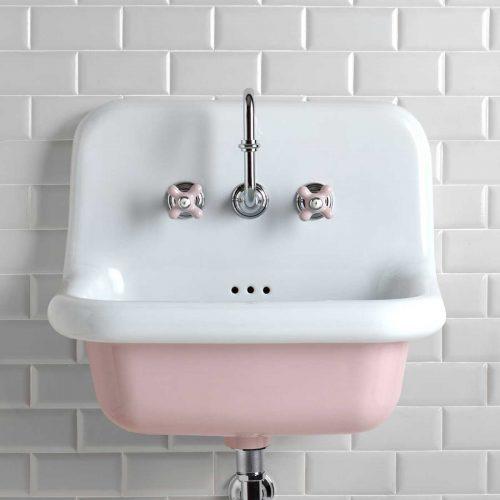 Pastel Pink Broadway Basin Tiles