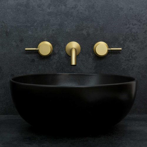 West One Bathrooms 3 Hole Brushed Brass