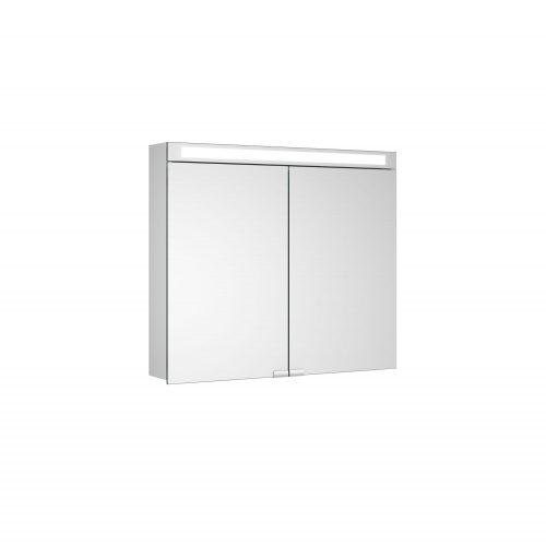 West One Bathrooms Allumino Double Mirror Cabinet