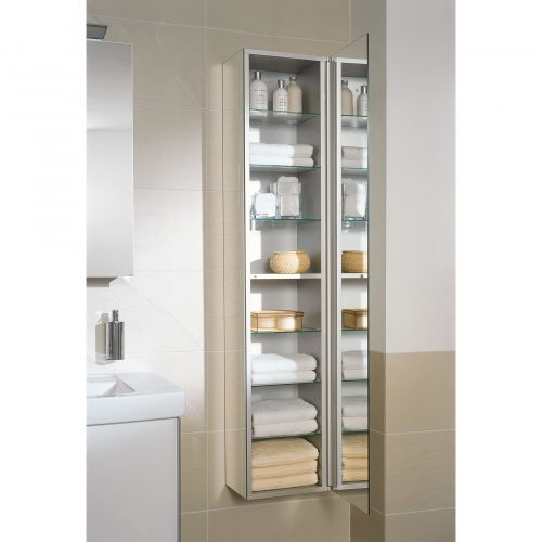 West One Bathrooms Allumino Tall Cabinet Lifestyle