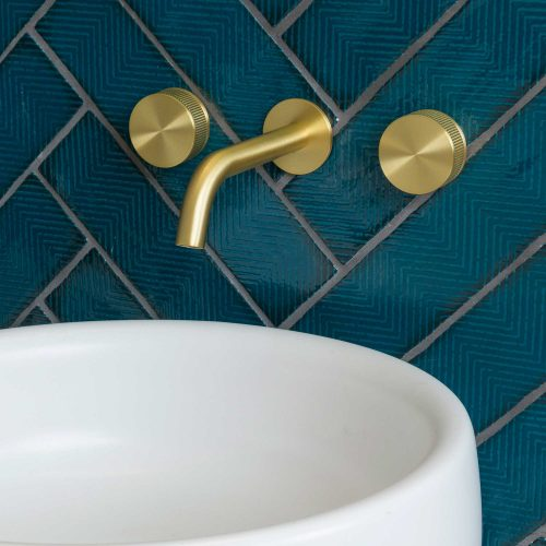 West One Bathrooms Decca 3 Hole Mixer – Brushed Brass