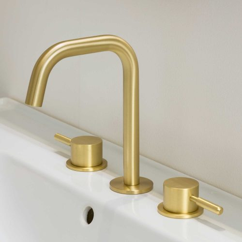 West One Bathrooms Domo Brushed Brass