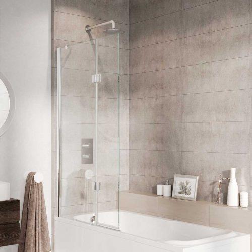 West One Bathrooms – Innov8 Folding Bath Screen Chrome N2BV213S
