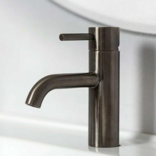 West One Bathrooms Online Decca Mono – Brushed Gunmetal