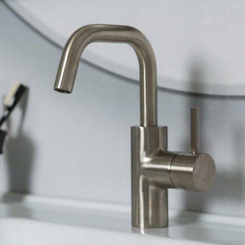 West One Bathrooms Online Decca Mono Brushed Nickel