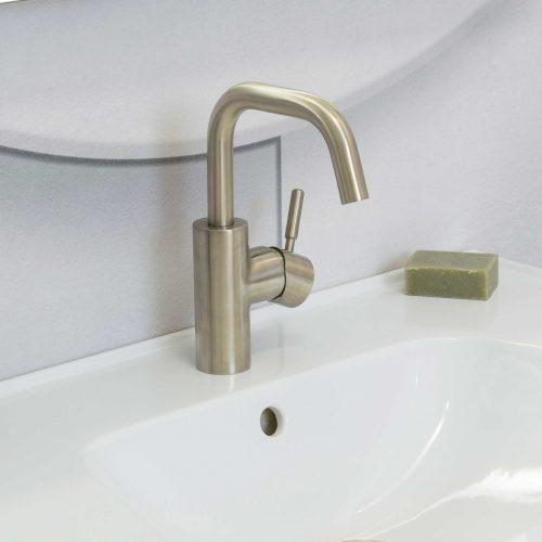 West One Bathrooms Online Domo Mono Brushed Nickel