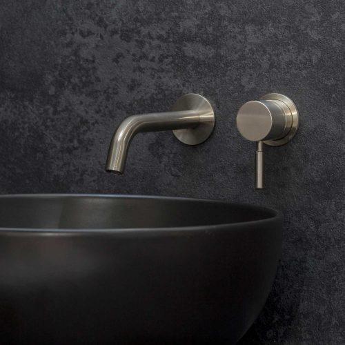 West One Bathrooms Online – Domo Wall – Brushed Nickel
