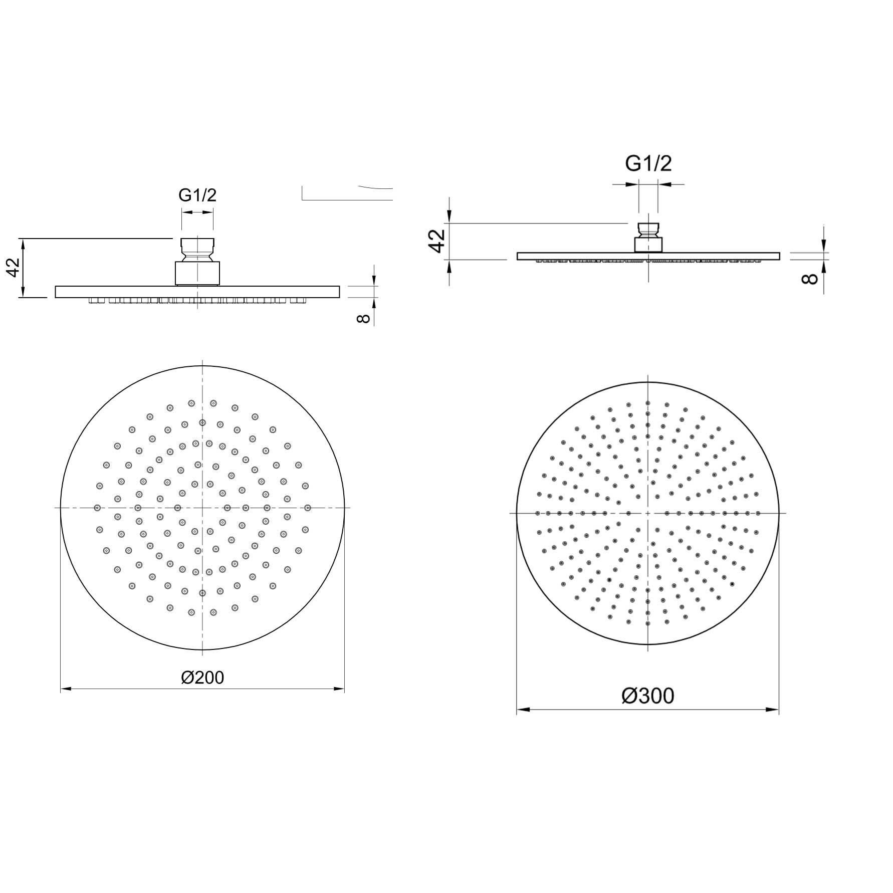 AX949 Shower Head Technicals