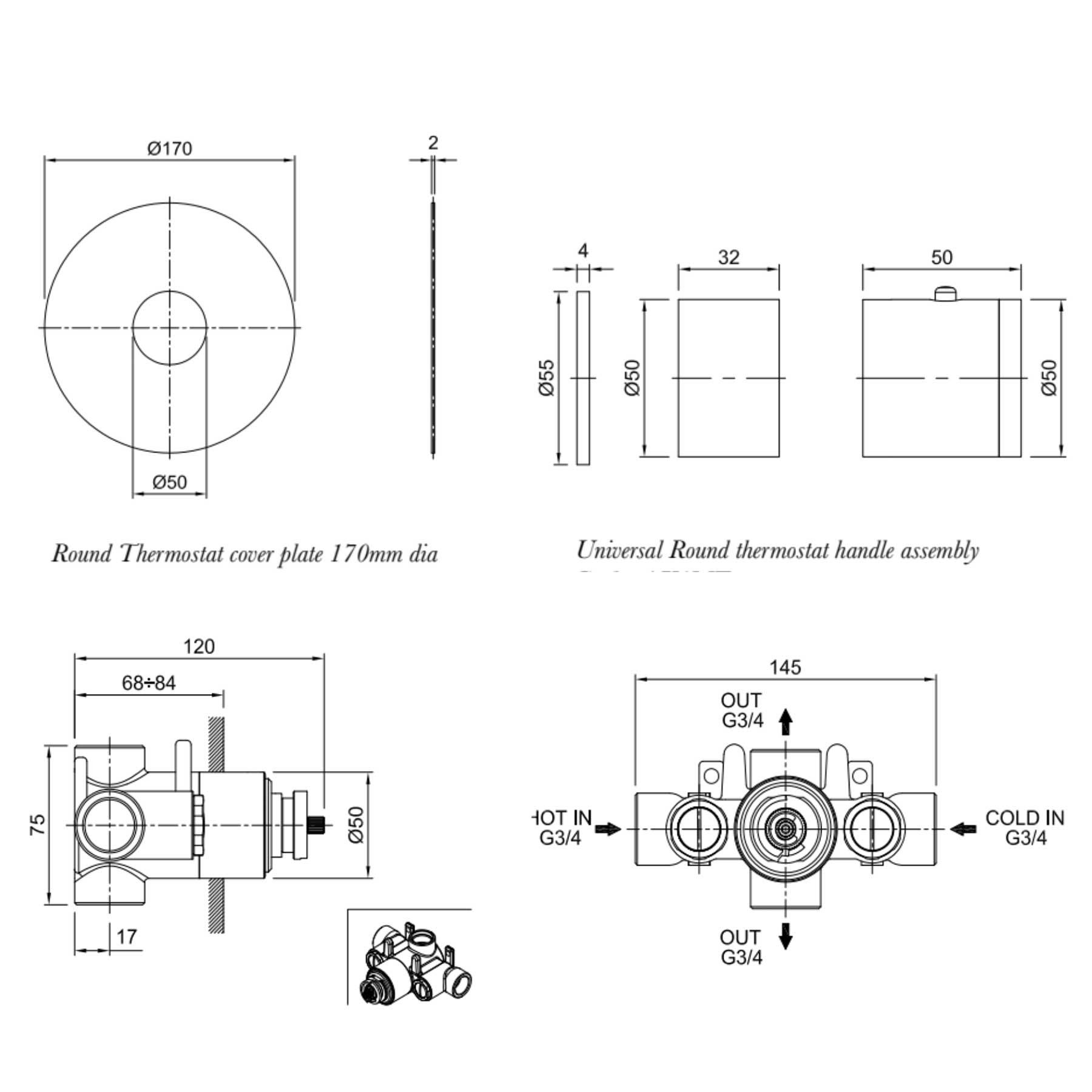 Axxis Thermostatic Shower Valve Technical