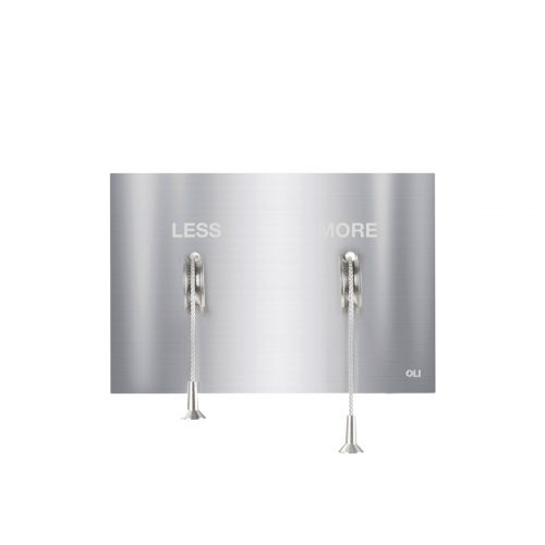 West One Bathrooms LESSISMORE  Brushed Stainless Steel