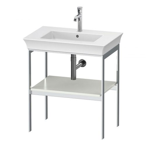 West One Bathrooms Online White Tulip Metal Console