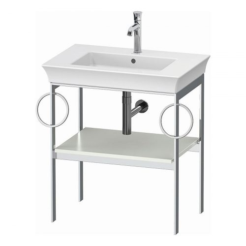 West One Bathrooms Online White Tulip Metal Console B