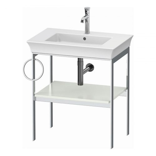 West One Bathrooms Online White Tulip Metal Console L