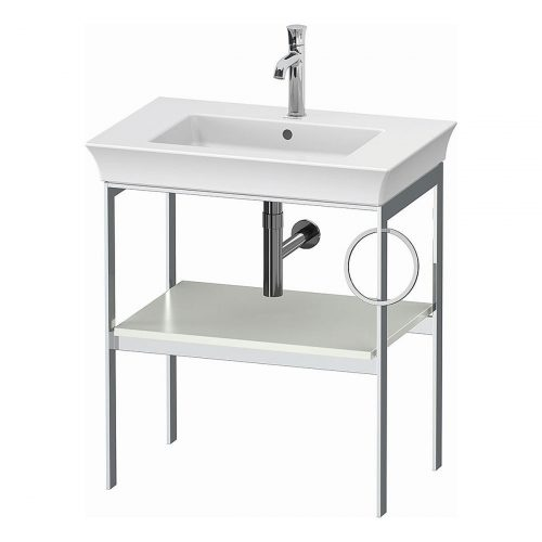 West One Bathrooms Online White Tulip Metal Console R
