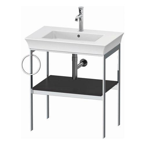 West One Bathrooms White Tulip Metal Consol L