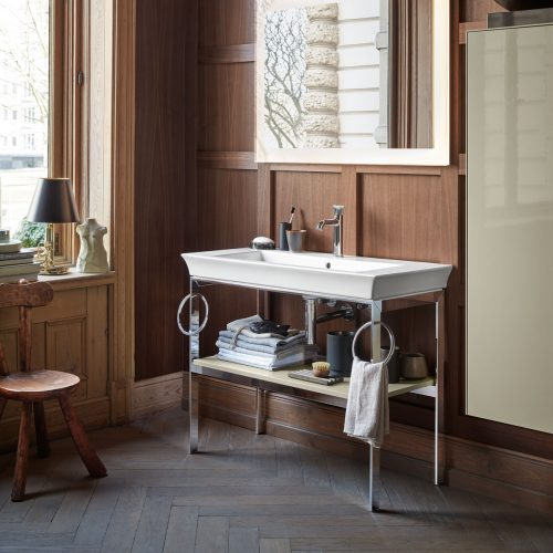 West One Bathrooms White Tulip Metal Consol Lifestyle
