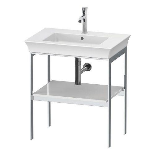 West One Bathrooms White Tulip Metal Consol N