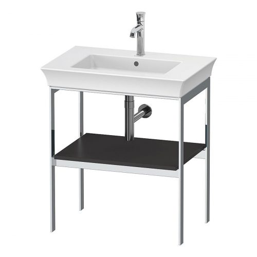 West One Bathrooms White Tulip Metal Console N