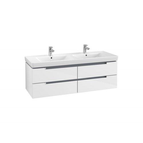 VB soho double basin & vanity unit – glossy white