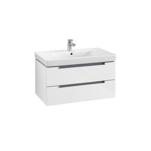 West One Online Soho Wall Hung Vanity Unit & Washbasin  White