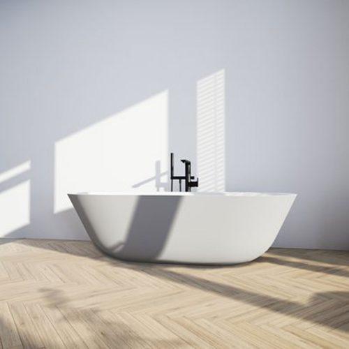 West One Online VB Quaryl Free Standing Duo Bath Lifestyle