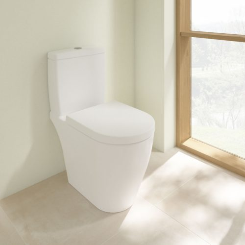 West One Online VB Solna Rimless Close Coupled WC & Soft Close Seat